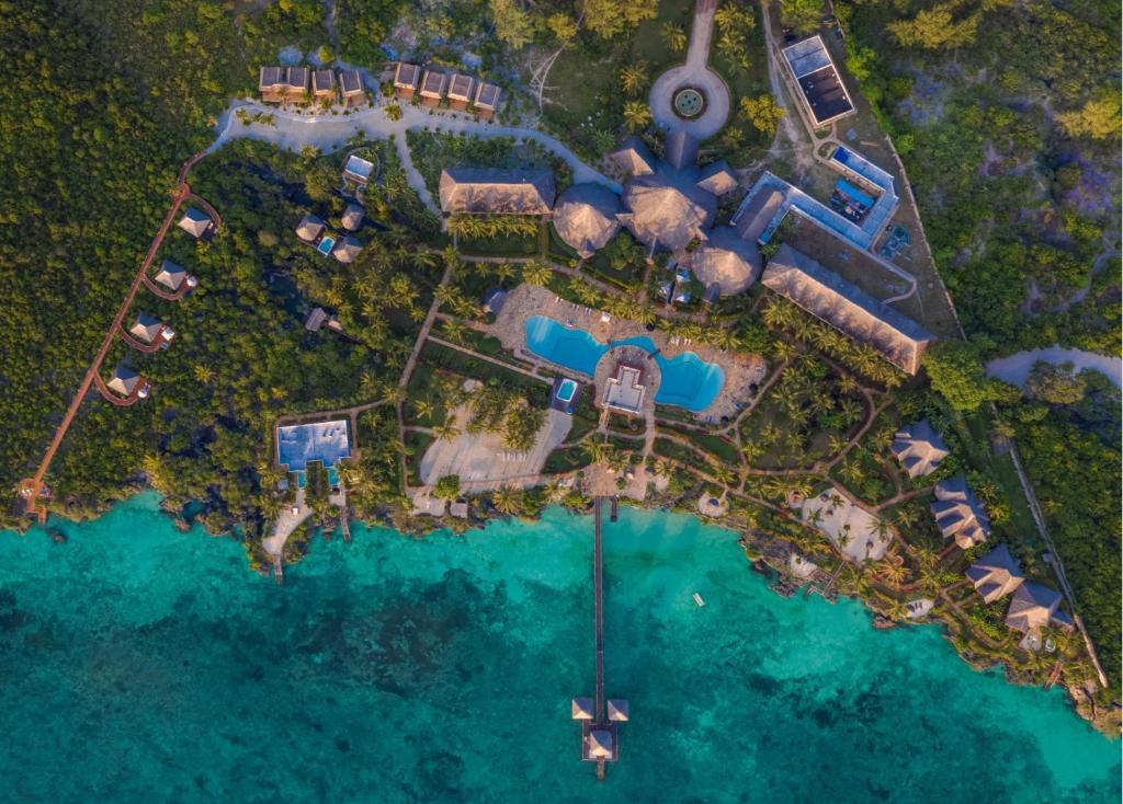 A bird's-eye view of Fruit & Spice Wellness Resort Zanzibar