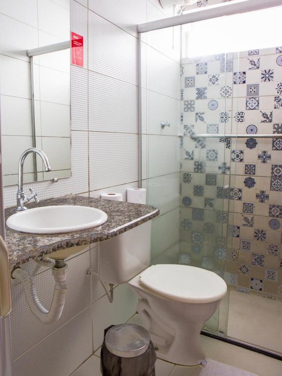 A bathroom at Hotel Casa Grande