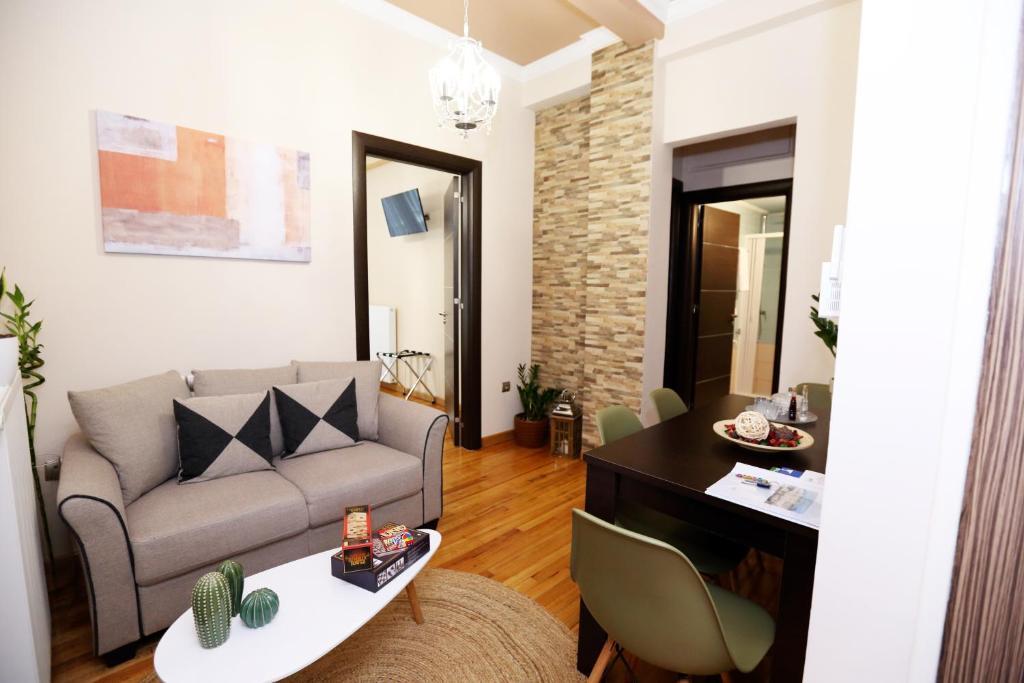 אזור ישיבה ב-Athens Heart Apartments