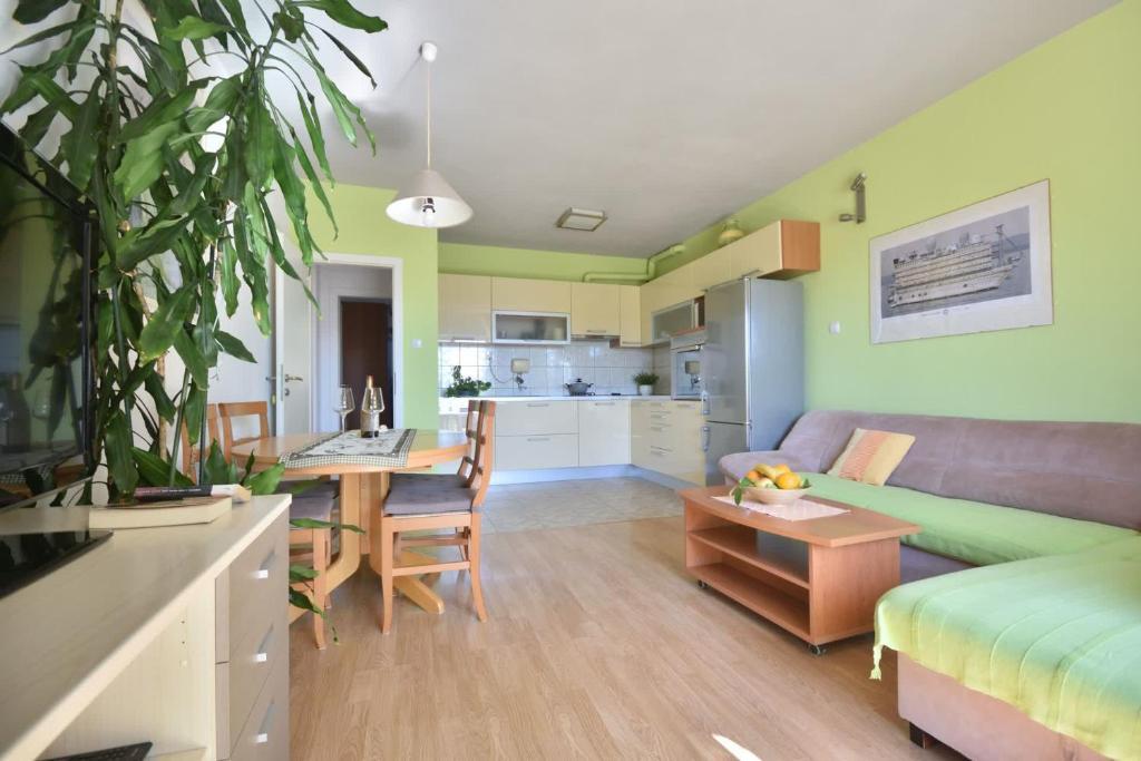 Posezení v ubytování Sweet Apartment in Bol