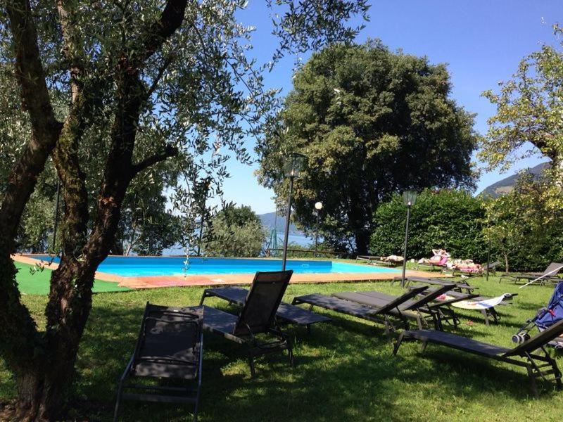 The swimming pool at or near Castello Oldofredi