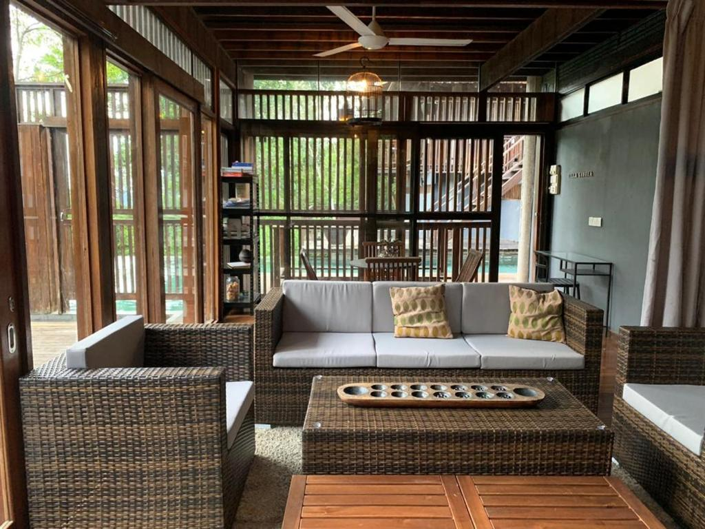 A seating area at The Shorea