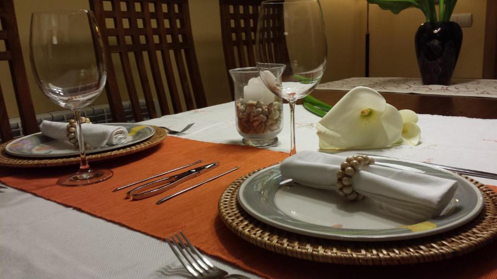 Restaurace v ubytování Mar de Vela Combarro
