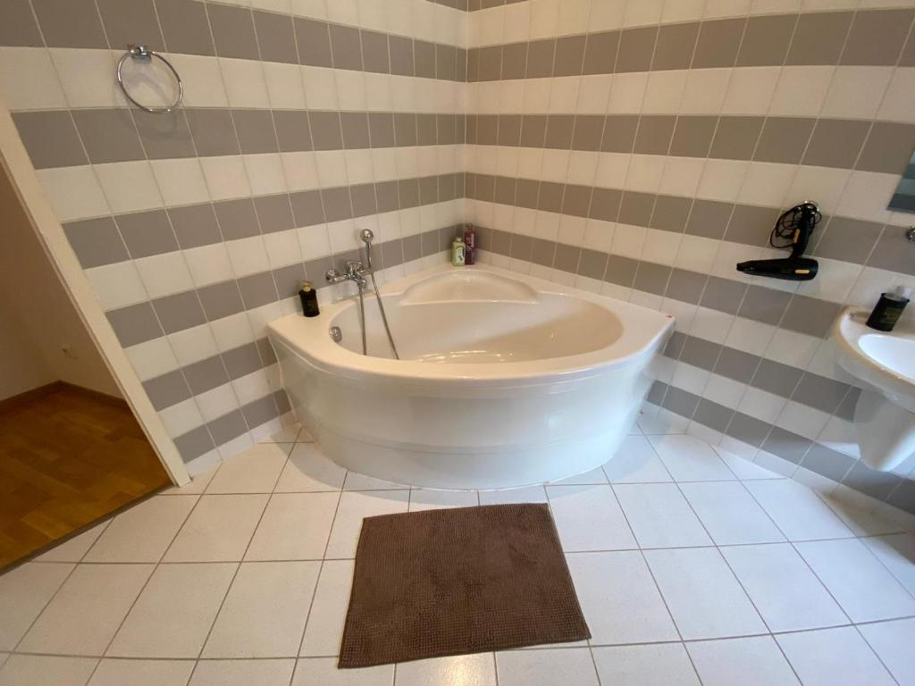 A bathroom at Apartmán Hubertus