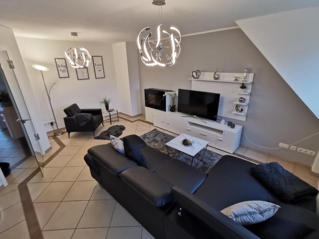 Posezení v ubytování Luxuriöses Wellnes Apartment