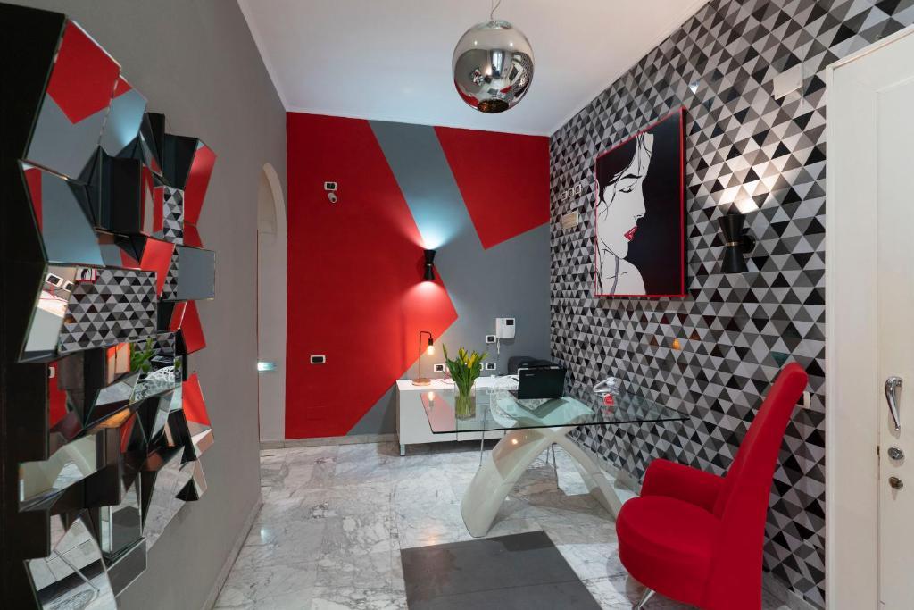 Area soggiorno di H Rooms boutique Hotel