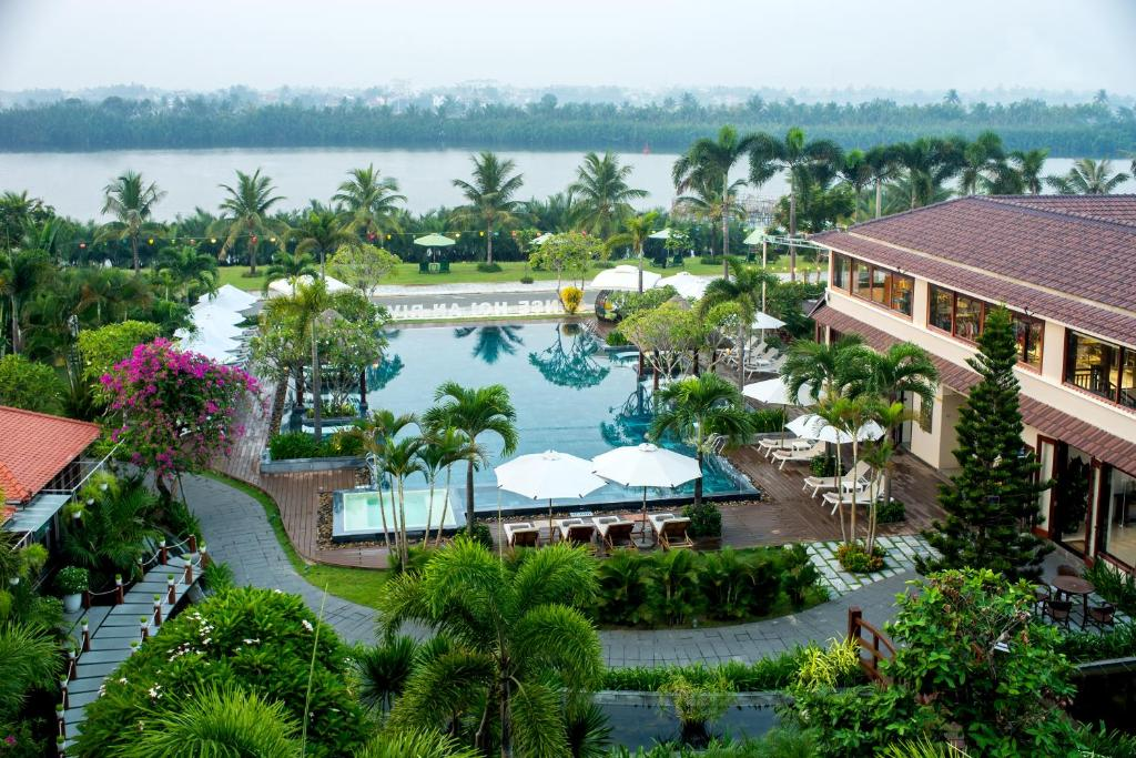 A bird's-eye view of Silk Sense Hoi An River Resort