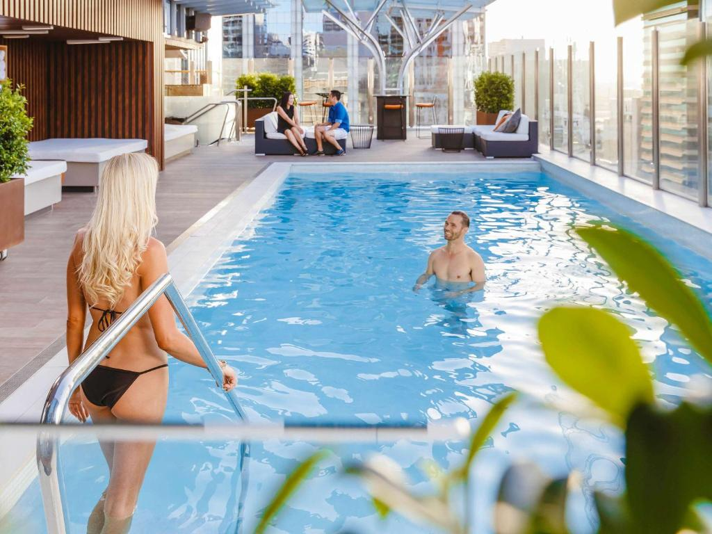 The swimming pool at or near Mercure Brisbane King George Square