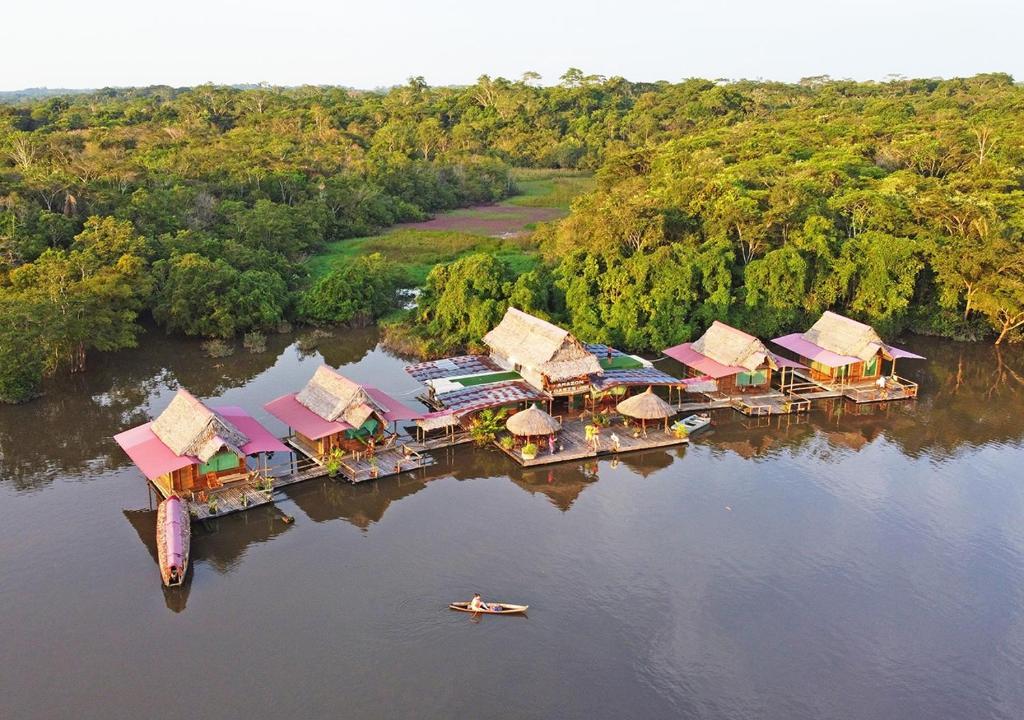 Amazon Oasis Floating Lodge a vista de pájaro