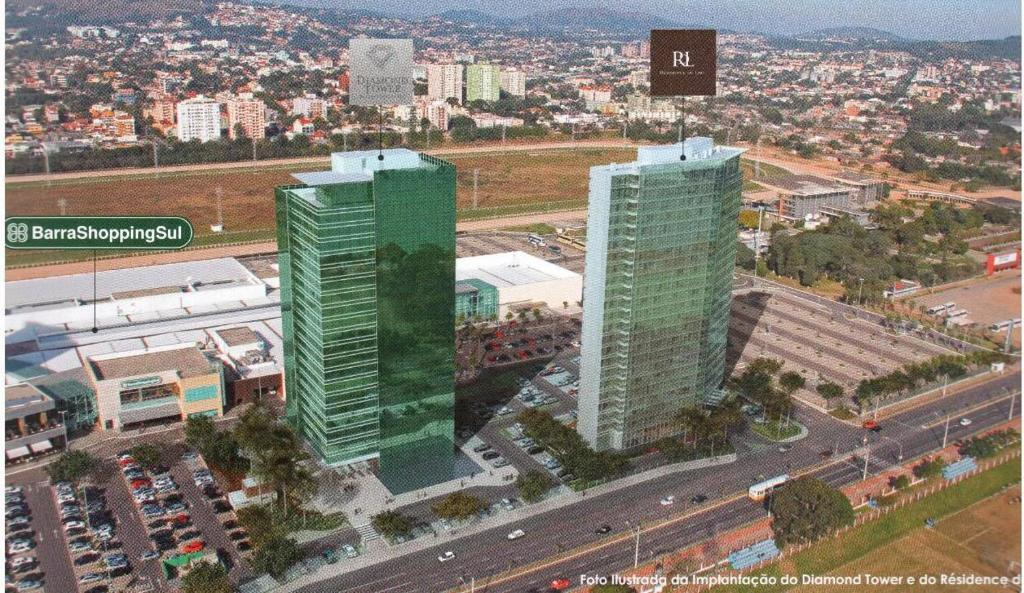 A bird's-eye view of AP JUNTO AO SHOPPING BARRA SUL