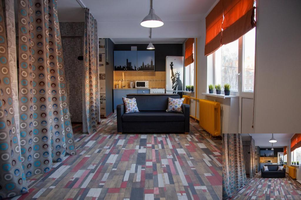 Гостиная зона в Apartment Kalina at Kirova 18