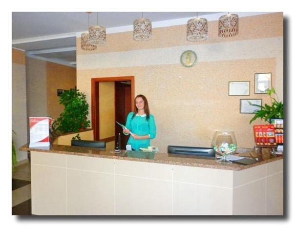 The lobby or reception area at Volyn