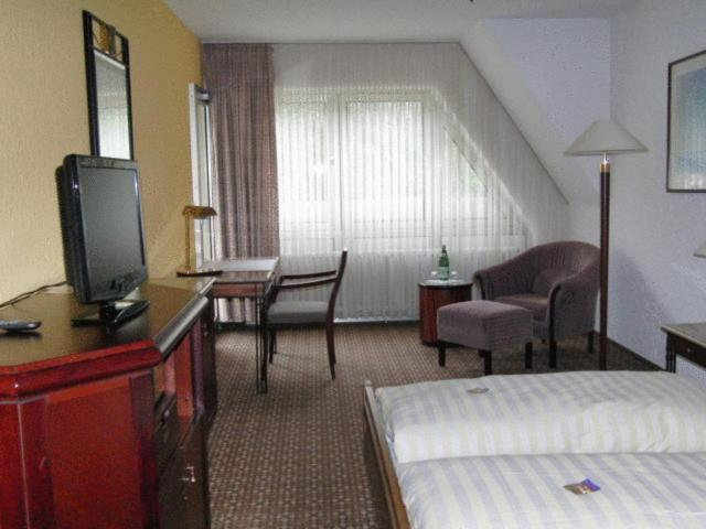 Een TV en/of entertainmentcenter bij Hotel Moselkern