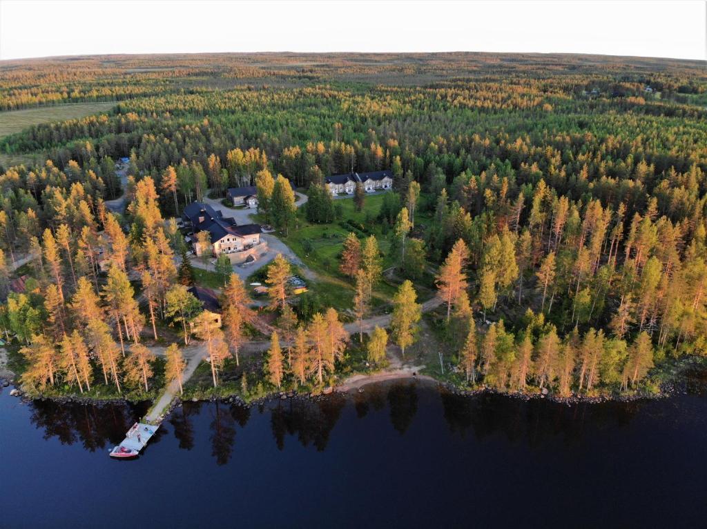Majoituspaikan Saija Lodge kuva ylhäältä päin