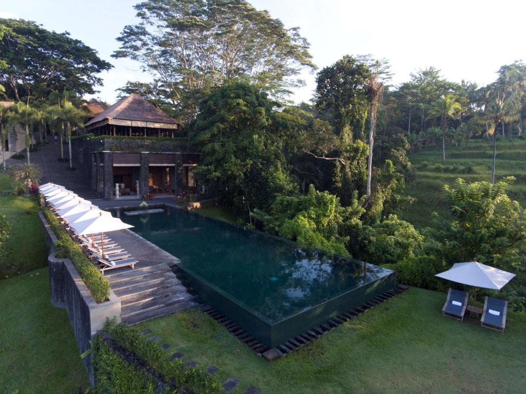 A view of the pool at Alila Ubud or nearby