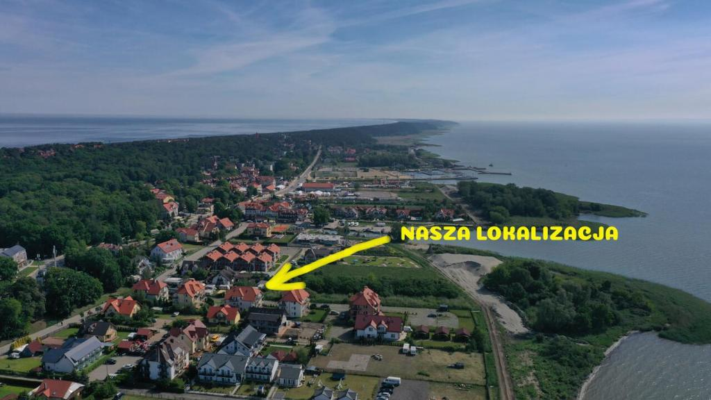 Widok z lotu ptaka na obiekt SUN CITY Apartament GOSIA - Krynica Morska