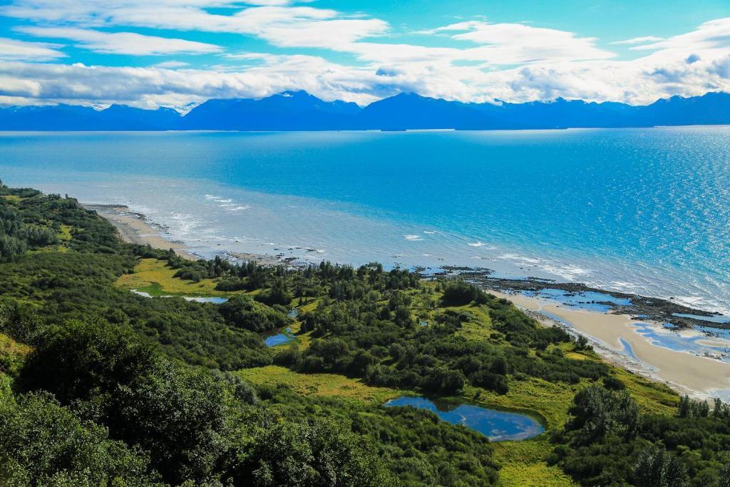 A bird's-eye view of Kenai Peninsula Suites