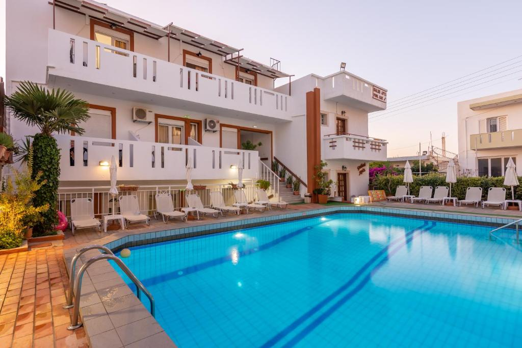 The swimming pool at or near Galini Apartments