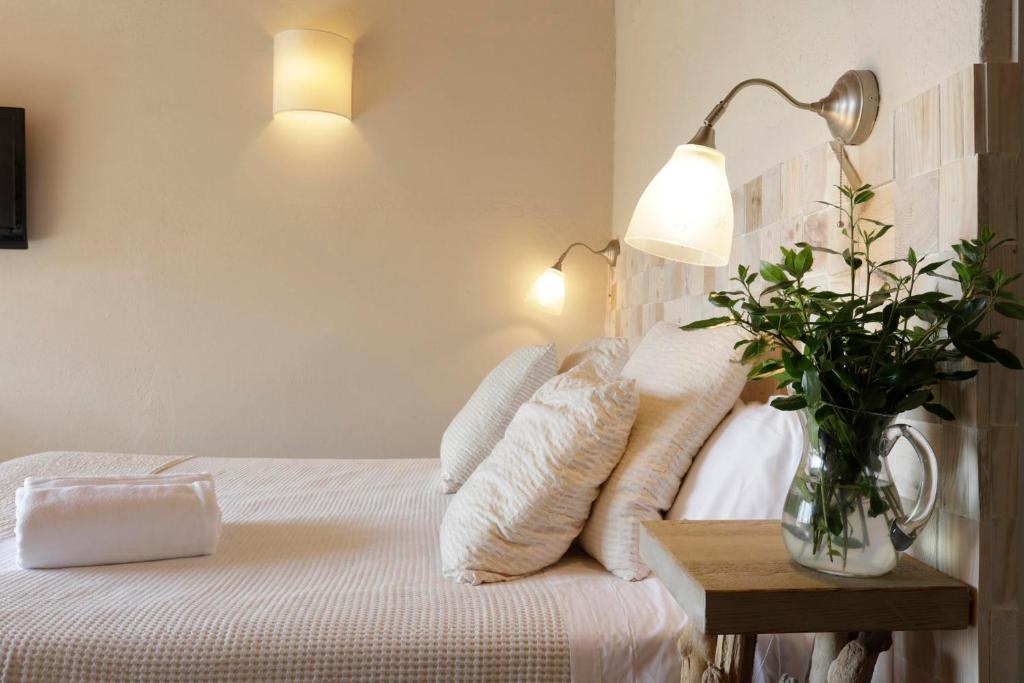 Cama o camas de una habitación en El Cau de Palau