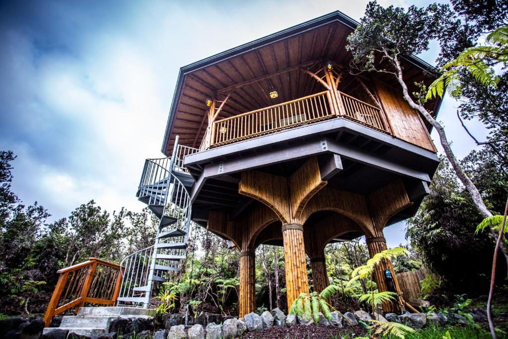 Picture of: Apartment Big Island Bamboo Treehouse Volcano Hi Booking Com