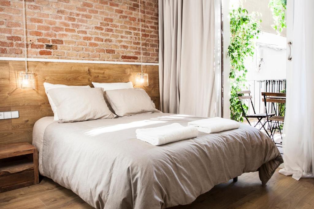Cama o camas de una habitación en Cien