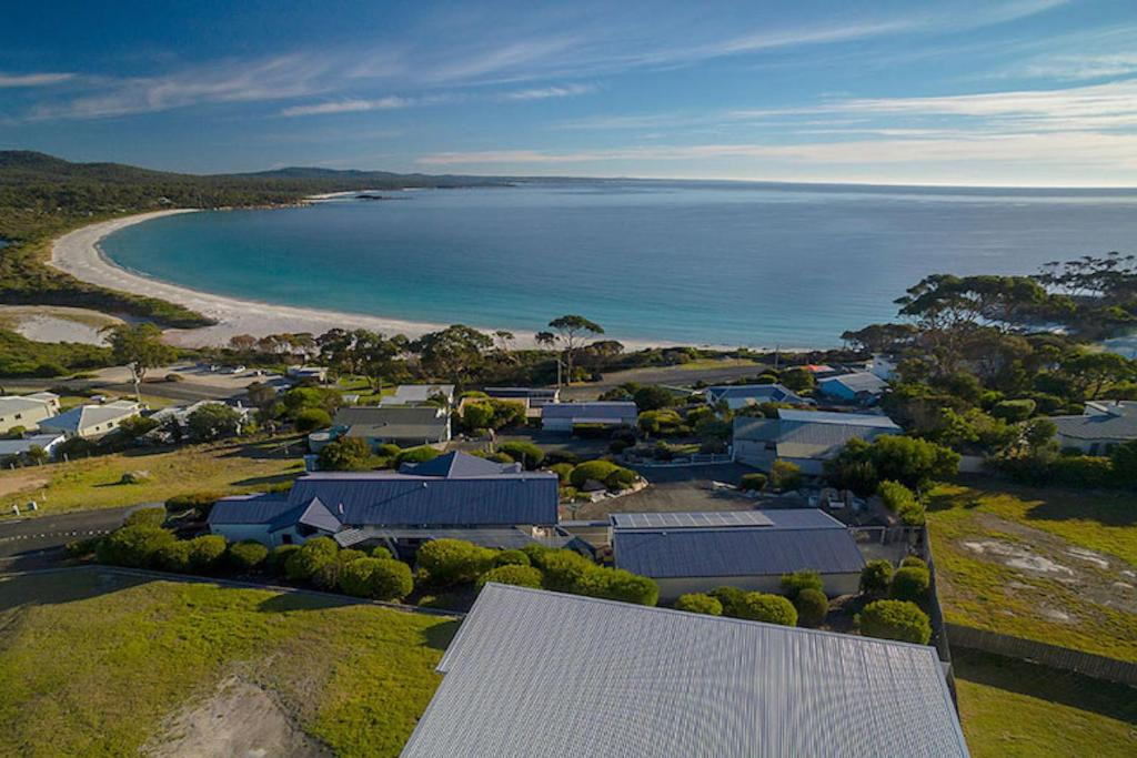 A bird's-eye view of Nautilus Bay of Fires