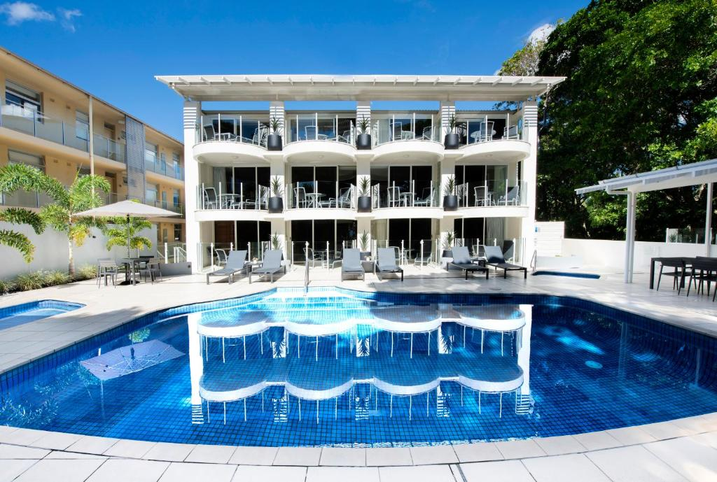 The swimming pool at or near SandCastles Noosa