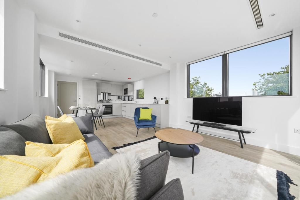 A seating area at Executive Apartments in Bermondsey by City Stay London FREE WIFI & AIRCON