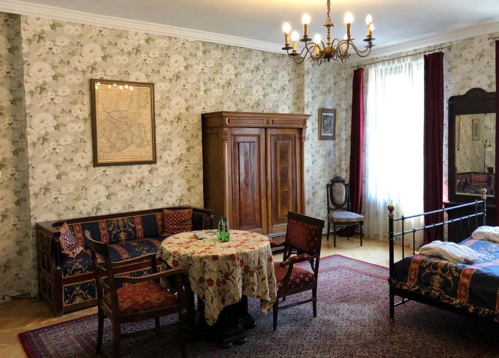 Część wypoczynkowa w obiekcie Austeria Klezmer Hois