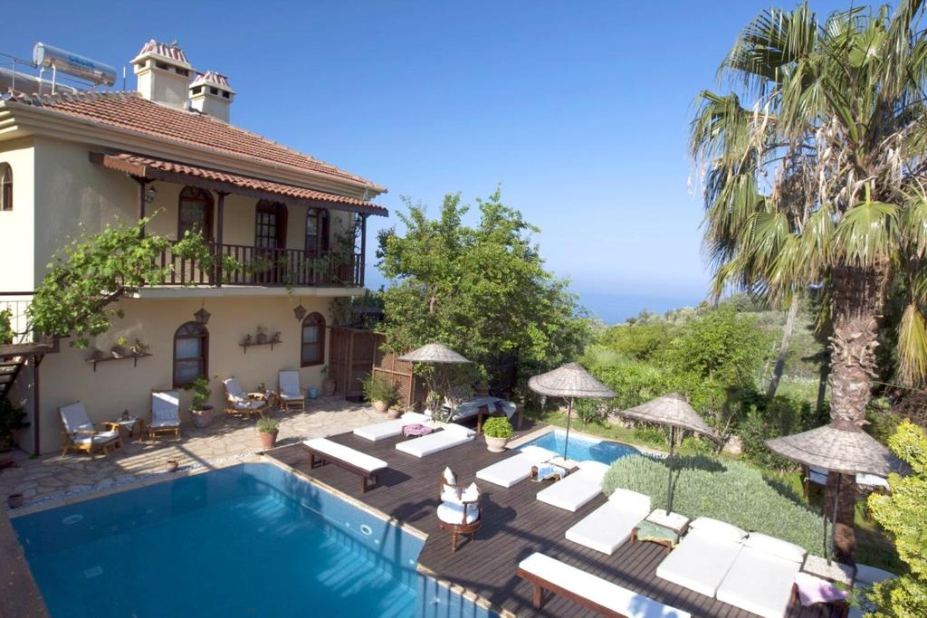 Villa with 6 bedrooms in Fethiye with wonderful sea view private pool enclosed garden 2 km from the beach
