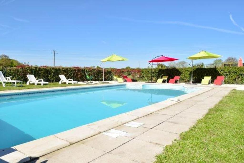 The swimming pool at or near House with one bedroom in Brux with shared pool enclosed garden and WiFi 100 km from the beach