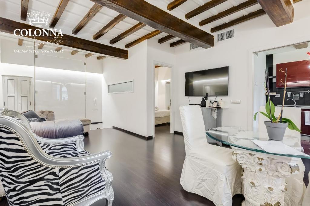 Coin salon dans l'établissement Colonna Suite Luxury - Pantheon