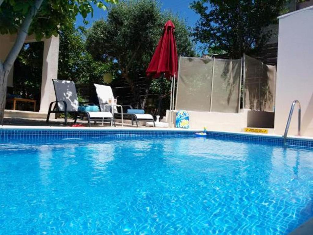 House with 3 bedrooms in Kritou Tera with wonderful sea view private pool enclosed garden 10 km from the beach