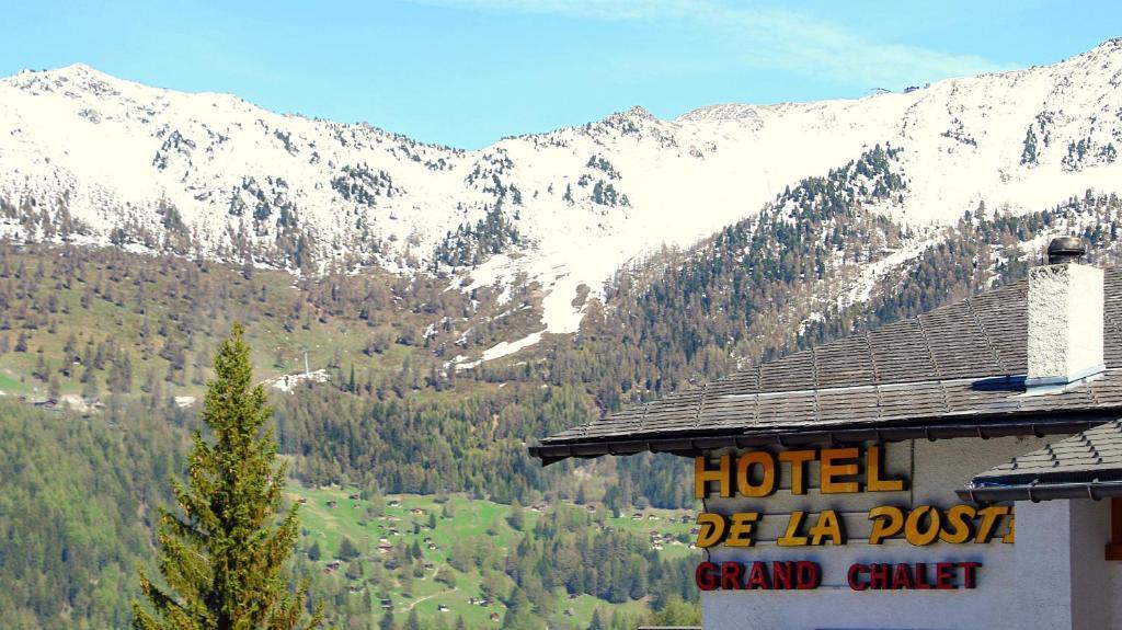 L'établissement Hotel de la Poste en hiver