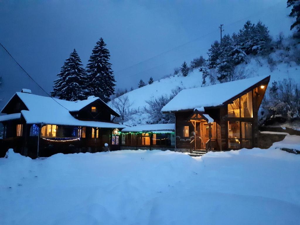 ski chalet Carmel, Rila mountain, near Borovets during the winter