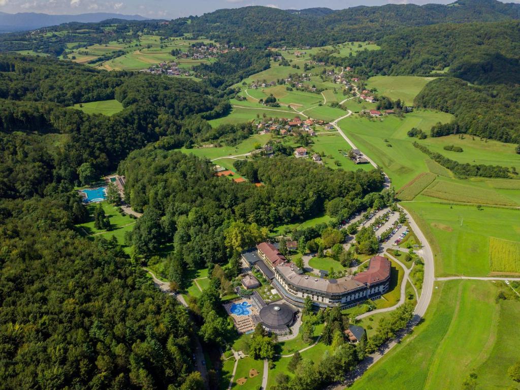 Ptičja perspektiva nastanitve Hotel Vitarium Superior - Terme Krka
