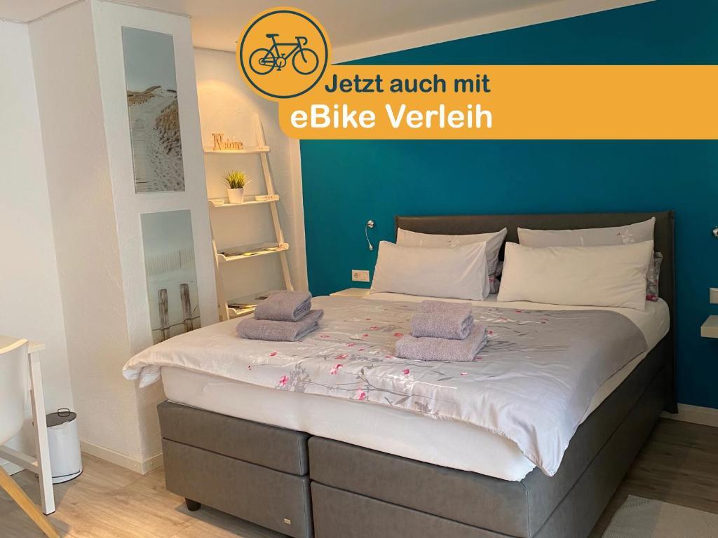 Ein Bett oder Betten in einem Zimmer der Unterkunft Ferienwohnung Familie Seuferle