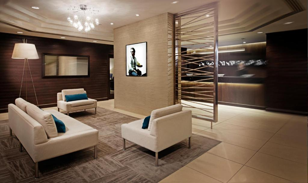 A seating area at Cambridge Suites Hotel Halifax
