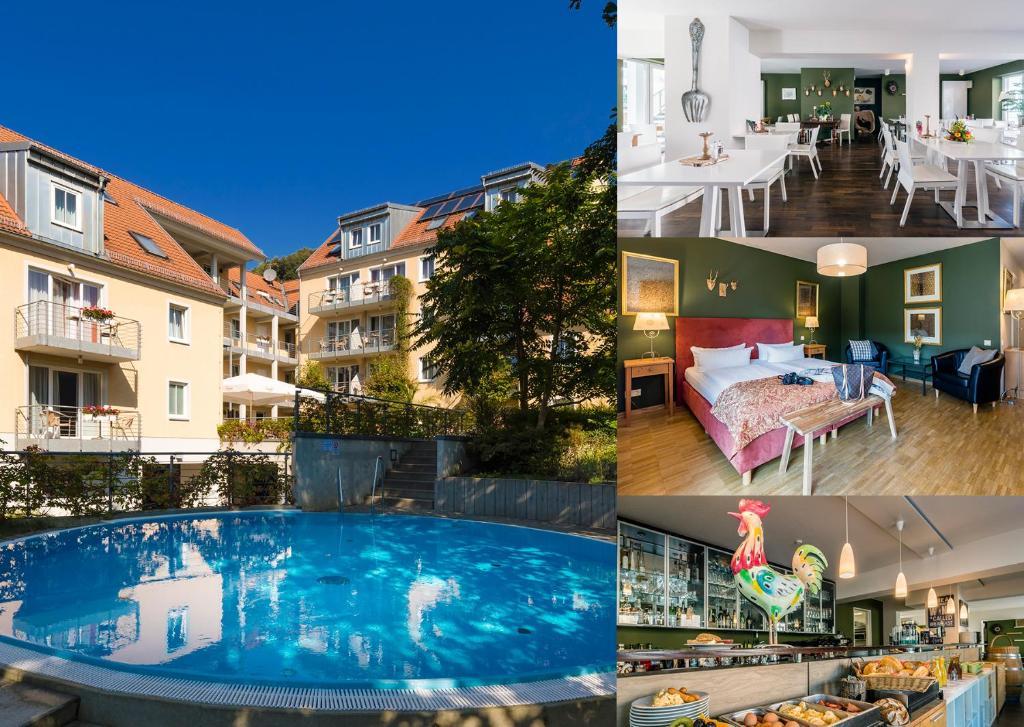 Der Swimmingpool an oder in der Nähe von Apparthotel STEIGER Bad Schandau