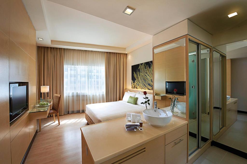 吉隆坡安莎酒店電視和/或娛樂中心
