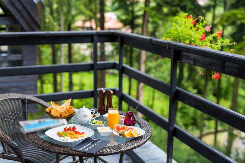 Un balcon sau o terasă la Hotel Smart
