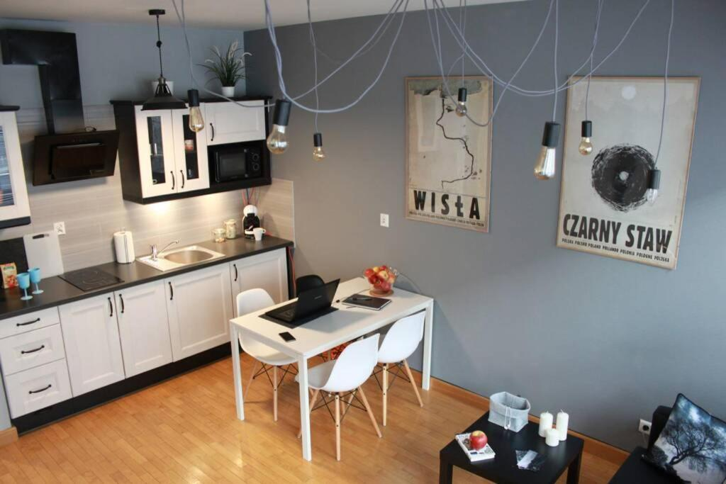 A kitchen or kitchenette at Home Office Kopernika 8'3 - Market Square & Old Town
