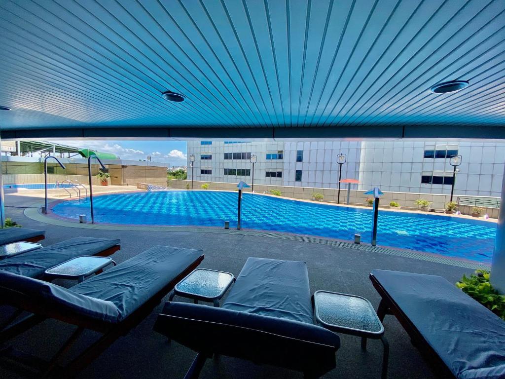 エバーグリーン プラザ ホテル タイナンの敷地内または近くにあるプール