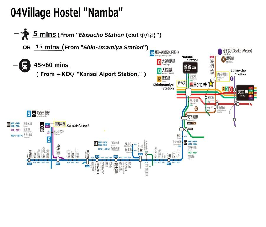 04village Nambaの見取り図または間取り図