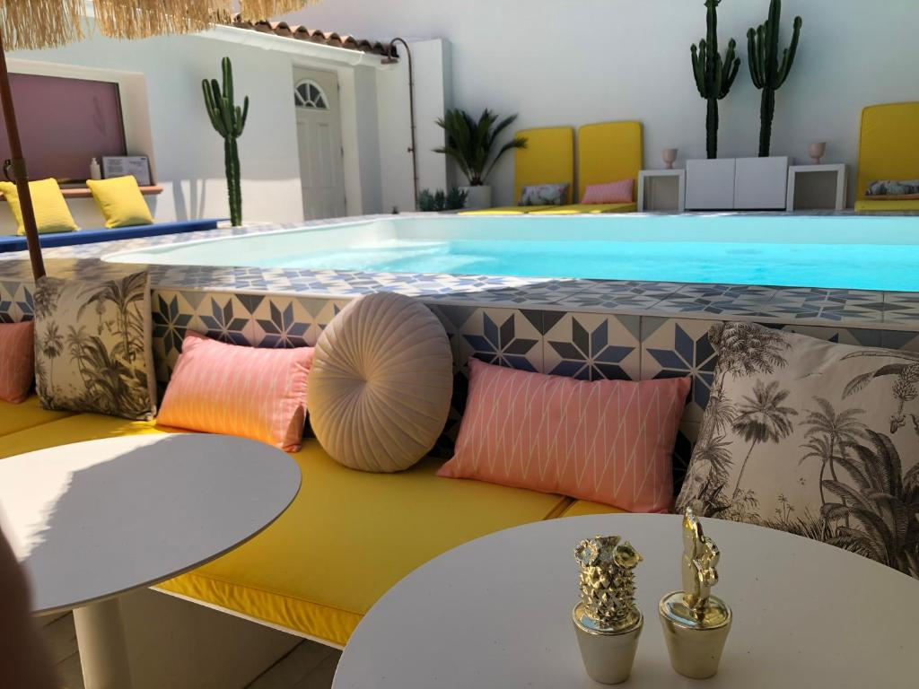 The swimming pool at or near Hôtel Mademoiselle