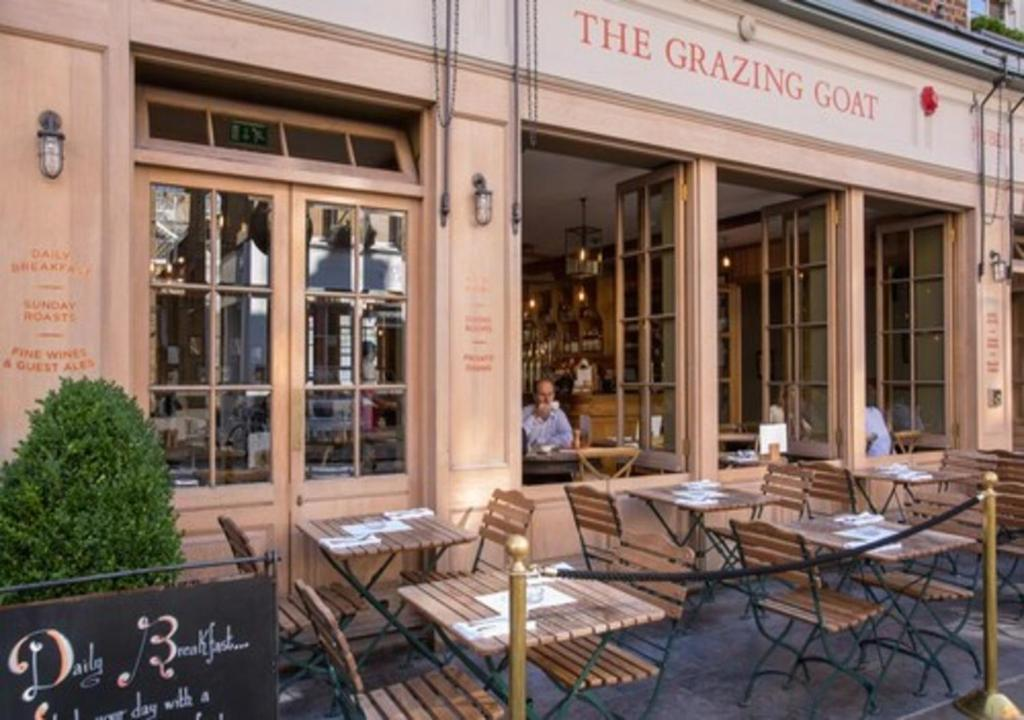 A restaurant or other place to eat at The Grazing Goat