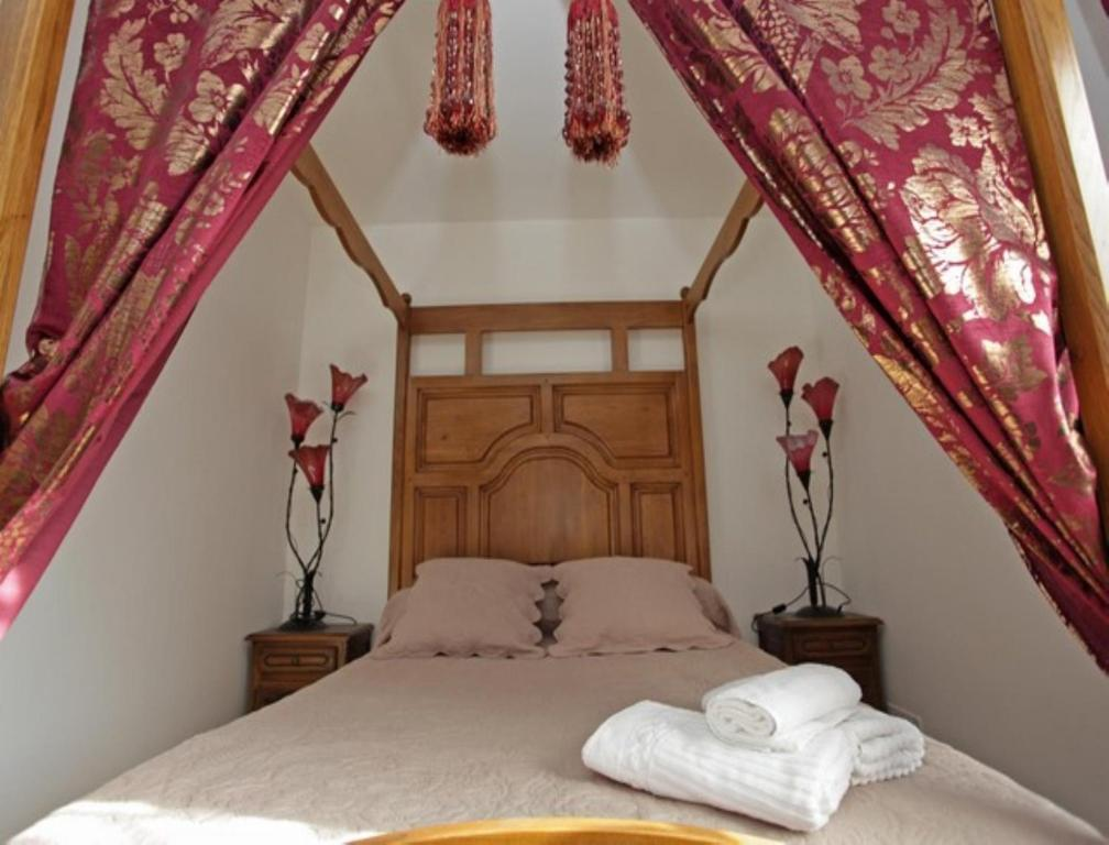 Un ou plusieurs lits dans un hébergement de l'établissement B&B Casa La Palma