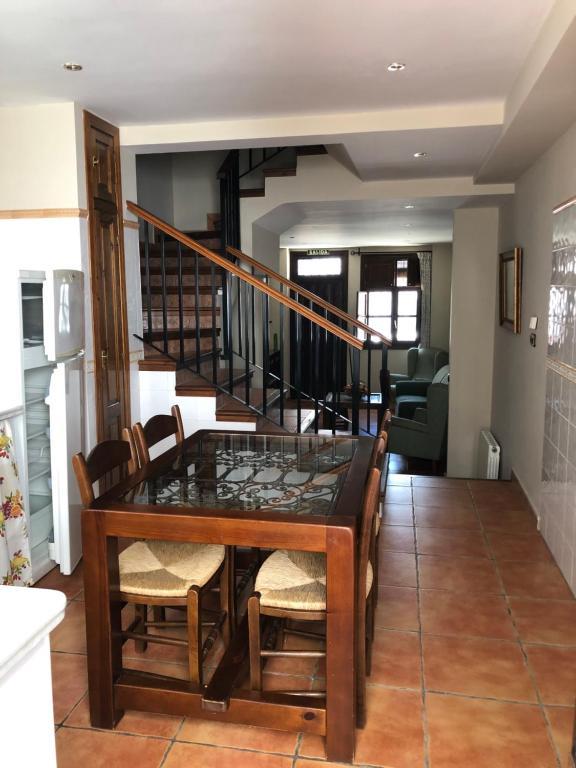 Área para comer en la casa vacacional