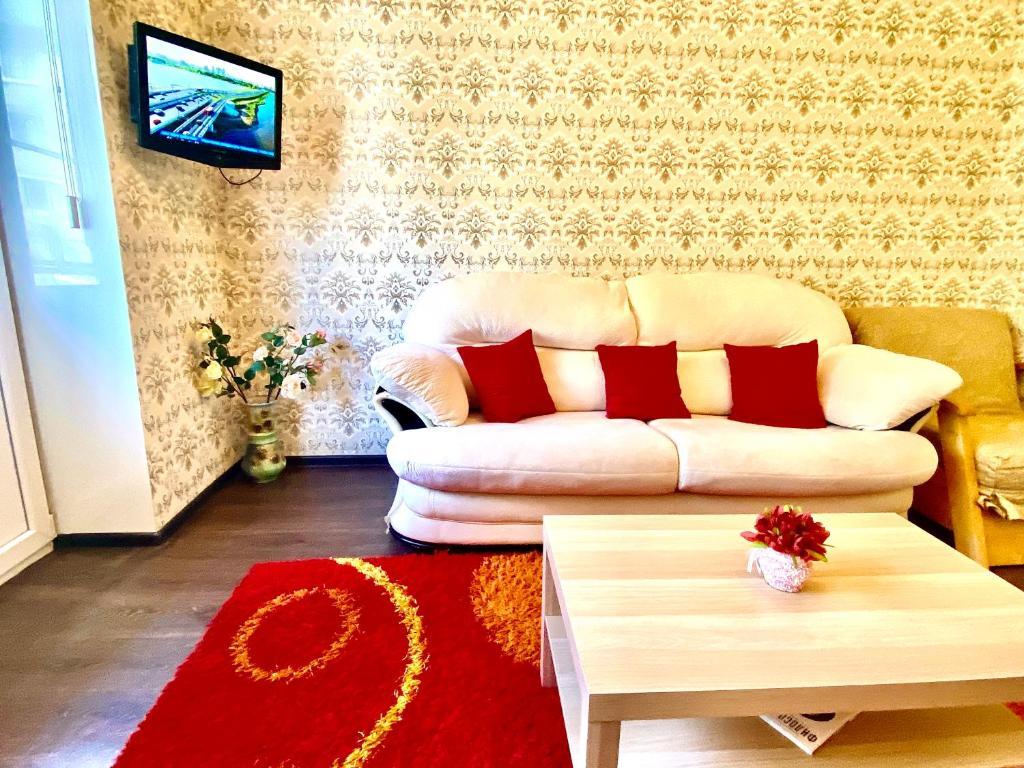 Гостиная зона в 2-х комнатная квартира на Набережной, у Волги