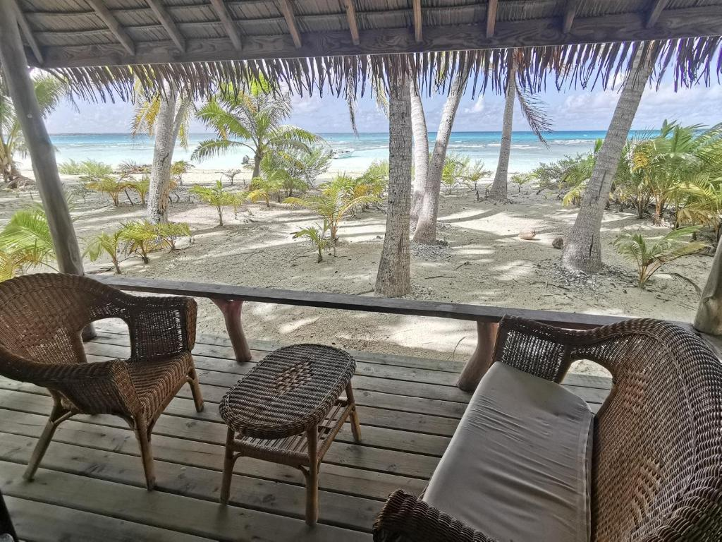 A balcony or terrace at AOTERA GUEST HOUSE
